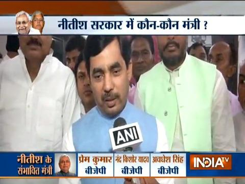 Nitish Kumar and Sushil Modi will together bring the development in Bihar, says Shahnawaz Hussain