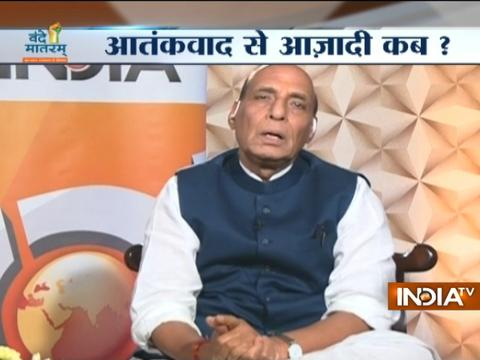 Vande Mataram India TV: Working towards a permanent solution in Kashmir, says Rajnath Singh