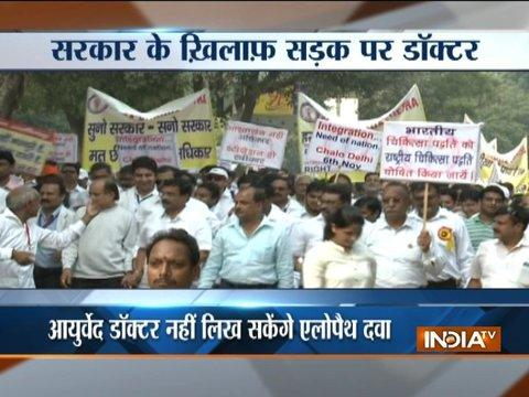 Doctors protest against upcoming NCISM Bill