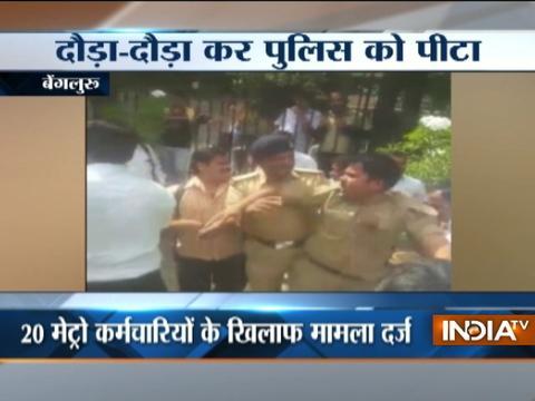 Caught on camera: Clash between Metro staff and policeman in Bengaluru