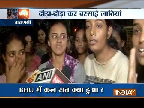 BHU molestation case: Police baton-charge female students protesting against eve-teasing