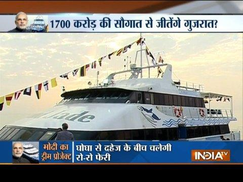 PM Modi to launch 'Ro-Ro' ferry service in poll-bound Gujarat today