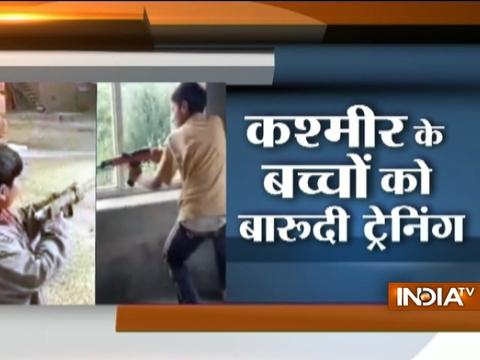 Minor children in Kashmir are being trained to use destructive weapons