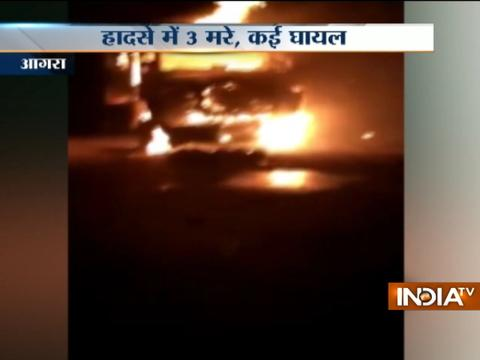 3 killed as bus collides with oil tanker at Delhi-Agra Yamuna Expressway