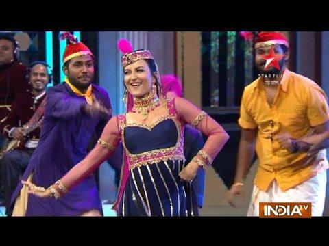 Chunky Pandey takes a laughter ride on the sets of Laughter Challenge show.