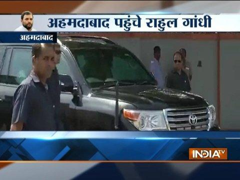 Rahul Gandhi reaches Ahmedabad to take part in OBC 'Navsarjan Janadesh Mahasammelan'