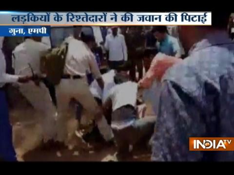MP : Traffic Police beaten up for issuing challan in Guna