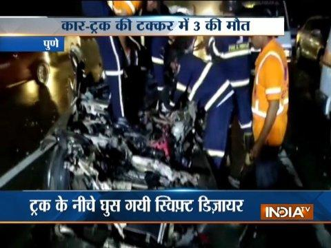 3 lose lives in car-truck collision at Mumbai-Pune Expressway