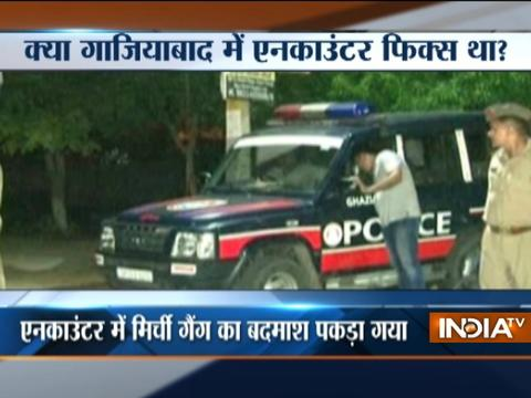 Police Arrests One after Encounter with Goons in Ghaziabad