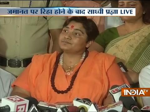 I am a victim of Congress' conspiracy: Sadhvi Pragya after being released on bail