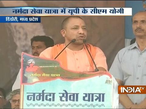 UP CM Yogi Adityanath attend the 'Narmada Seva Yatra' in Madhya Pradesh