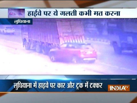 Major road accident in Ludhiana, incident caught on camera