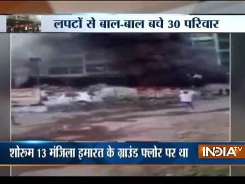 Two dead after fire broke out in a car showroom in Navi Mumbai