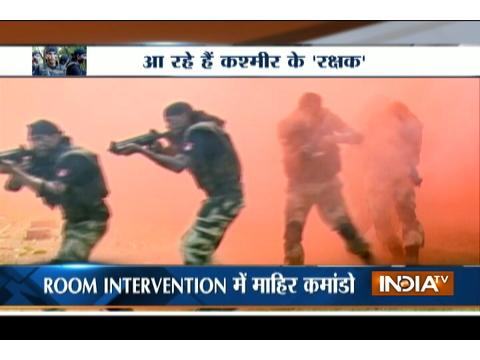BSF commandos undergo physical training at Tekanpur to deal with violent