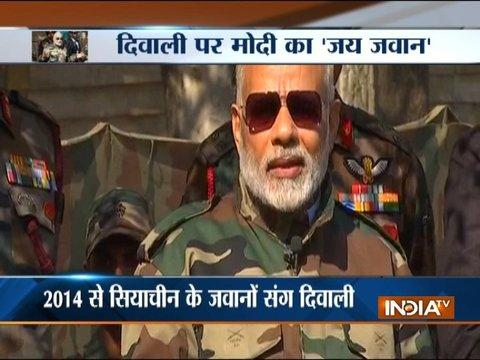 I get new energy when I spend time among the jawans and soldiers of the Armed Forces: PM Modi