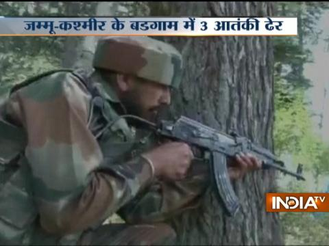 Security forces shot-down three militants in Budgam encounter