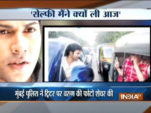 Varun Dhawan takes a selfie on the street, Mumbai police takes no time to issue an e-challan