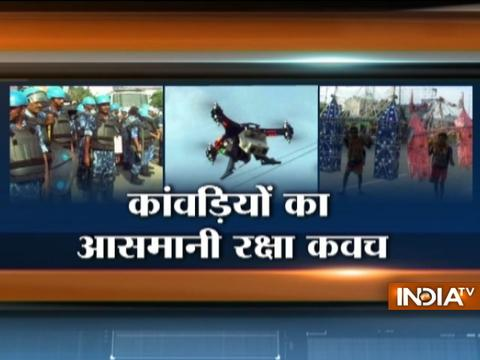 Tight Security: Drone Cameras Deployed for Safety of Kanwarias
