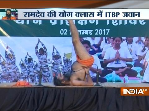 Yoga Guru Baba Ramdev organises 7-day Yoga camp for ITBP personnel in Greater Noida