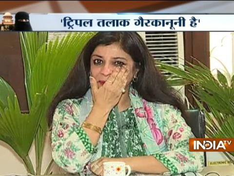 Shazia Ilmi gets emotional after hearing Supreme Court's Triple Talaq Verdict