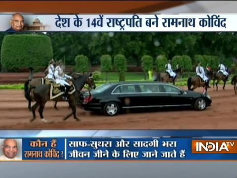 Ram Nath Kovind heads to Rashtrapati Bhavan, to receive Army's joint Guard of Honour