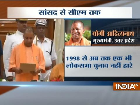 UP CM Yogi Adityanath takes oath as member of UP Legislative Council