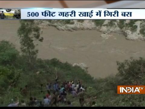 28 killed after bus rolls down a gorge near Shimla's Rampur