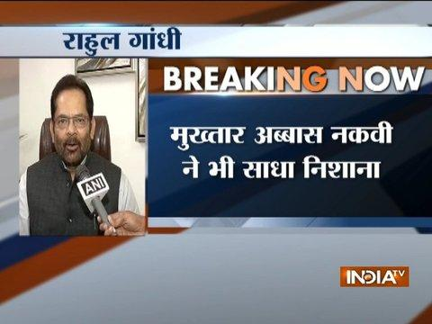Mukhtar Abbas Naqvi takes dig at Rahul Gandhi's Twitter popularity