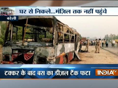 Bus collides with truck in Bareilly, 22 feared dead