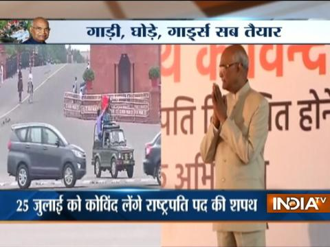 Delhi: Watch Full dress rehearsal of President elect Ram Nath Kovind 's swearing in ceremony