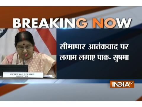 Pak should withdraw safe havens provided to terrorists, says Sushma Swaraj; US