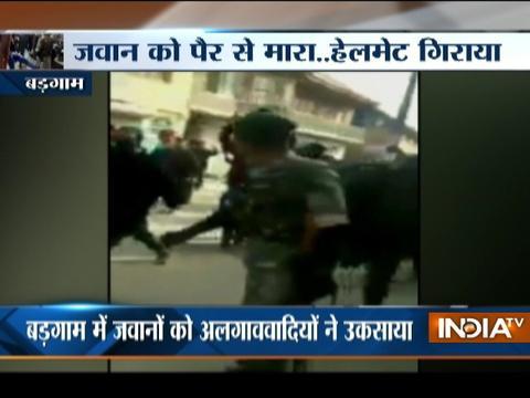 Video of CRPF Jawan being kicked by civilian in Kashmir is goes viral