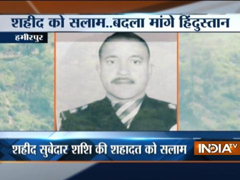 Family of martyr Subedar Shashi Kumar mourns his demise, army pays tribute
