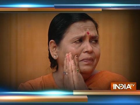 Uma Bharti breaks down while talking in Aap Ki Adalat with Rajat Sharma, Saturday at 10 PM on India TV