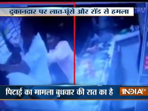 CCTV: Shopkeeper brutally beaten up by mob in Karnataka