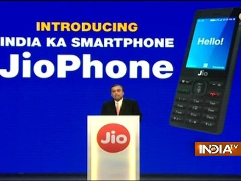 Reliance Jio Phone: Mukesh Ambani launches world's cheapest smartphone