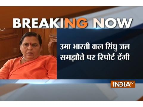 Water Resources Minister Uma Bharti to brief PM Modi on Indus Waters Treaty