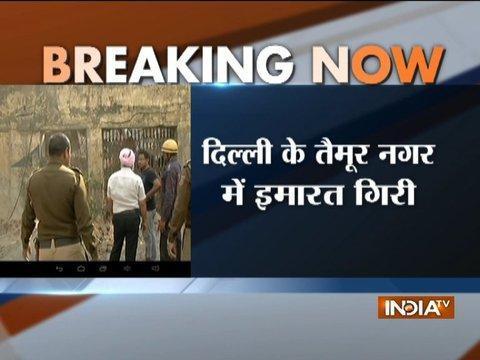 Building collapses in Delhi's Taimur Nagar, rescue operation underway