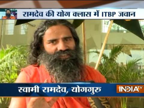 Greater Noida: Baba Ramdev organises 7-day Yoga camp for ITBP Jawans