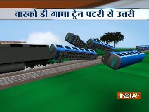 2 dead and 8 injured in Vasco De Gama Patna express train accident near UP's Banda
