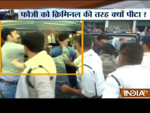 Madhya Pradesh: Army Man Brutally Beaten by traffic police in Morena district