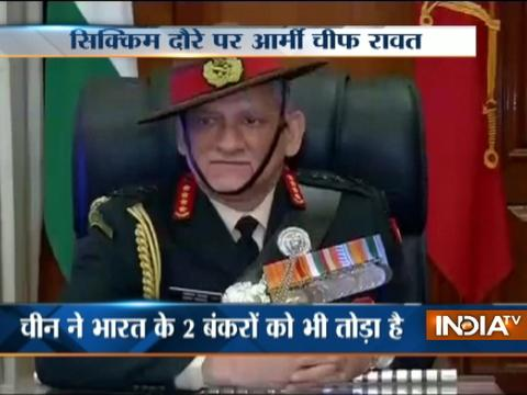 General Bipin Rawat to visit Sikkim today amid standoff with China