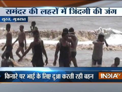 Surat: Boy rescued from sea after being swept out by high tide
