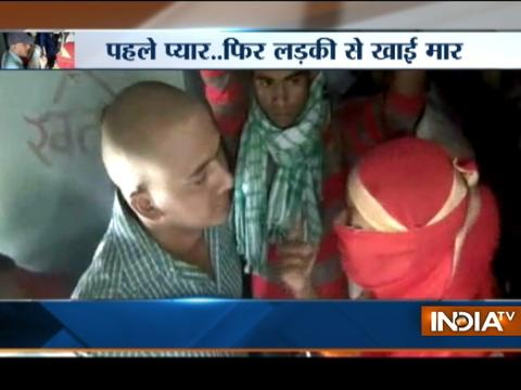 Girl thrashes youth in a running train over alleged sexual molestation