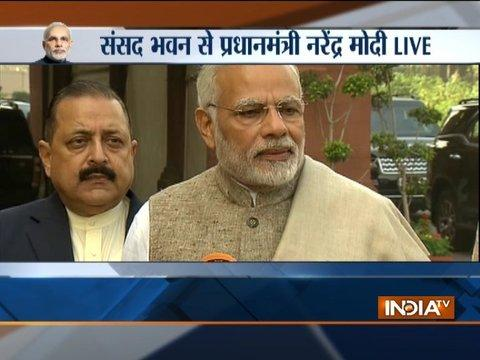 PM Modi addresses media ahead of winter session of the parliament