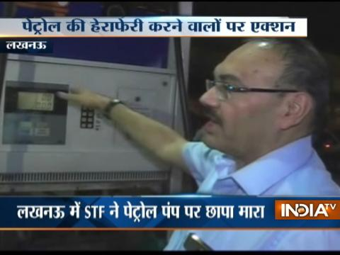 UP STF conducts raid at petrol pumps in Lucknow