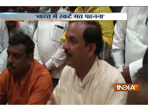 Union Minister Mahesh Sharma advises tourists not to wear skirts
