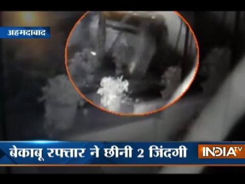 Over speeding SUV takes life of 2 teenagers in Vastrapur, Ahmedabad