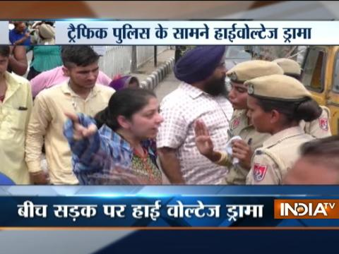 VIDEO: Girl's father creates high voltage drama with Ludhiana traffic police