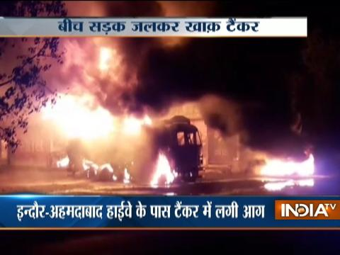 Madhya Pradesh: Oil tanker catches fire, no casualties